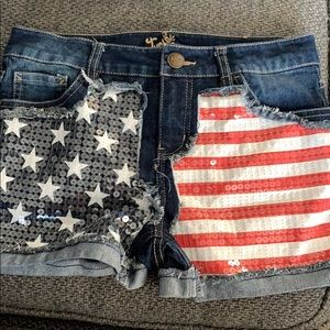 Justice American flag shorts